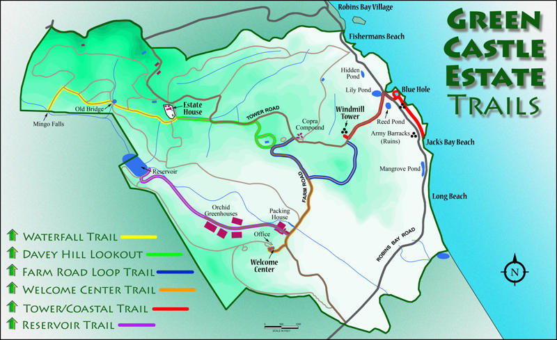 Green Castle eco resort Trail Map