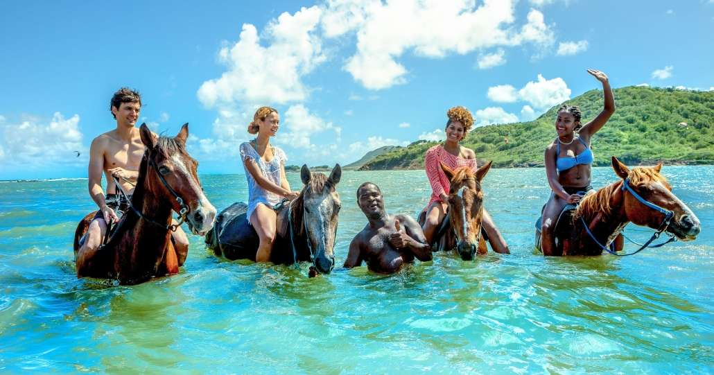 Horse Riding in the Sea.