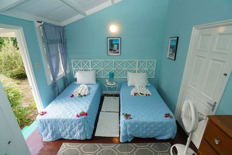 ensuite Twin rustic Cottage rooms at Green Castle Hotel Jamaica