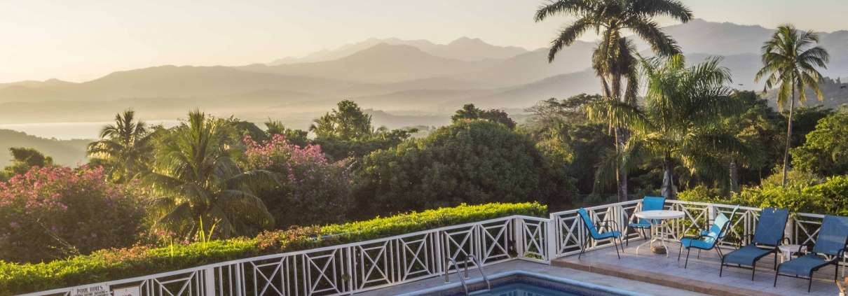 View of Blue Mountains Jamaica from Green Castle Eco Retreat