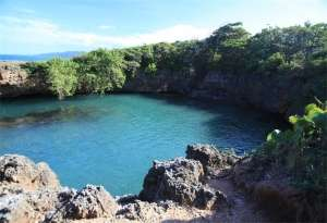 Blue Hole, St Marys, hiking on Green Castle Estate Tour