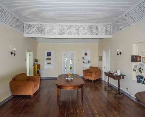 Lounge of the Cottage, one of the period cottage rooms for your Jamaica vacation