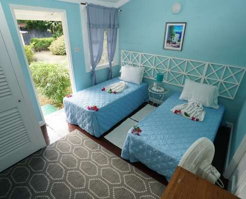 Twin rustic Cottage rooms at Green Castle Hotel Jamaica