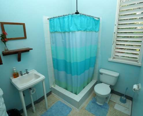 en-suite bathroom Vacation apartment for holidays in Jamaica part of Green Castle rustic cottage rooms