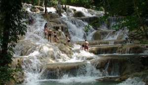 Dunns River Falls on the One Love Trail hike from Green Castle Nature Lodge