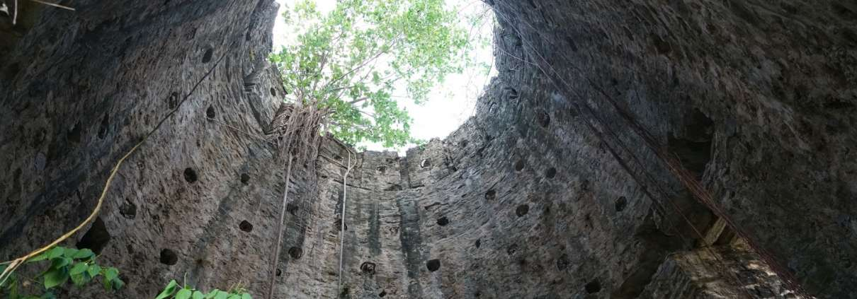 Interior of the Spanish Tower at Green Castle